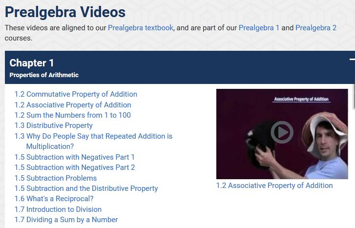 pre algebra videos