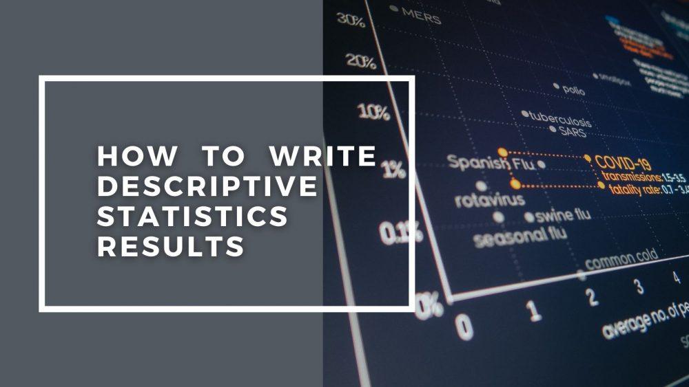 How To Write Descriptive Statistics Results