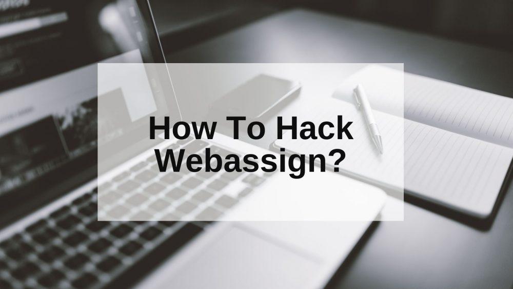 How To Hack Webassign